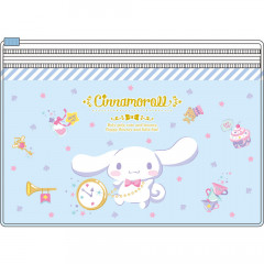 Japan Sanrio 2 Pocket Antibacterial Mask Case Clear Pouch - Cinnamoroll