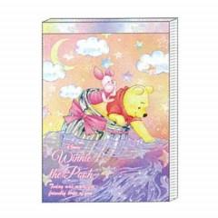 Japan Disney B8 Mini Notepad - Winnie The Pooh & Piglet