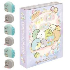 Japan San-X Memo & Mini Eraser Set - Sumikko Gurashi / Mole House A
