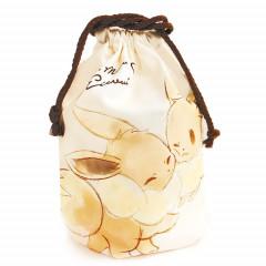 Japan Pokemon Drawstring Bag - Eevee Love