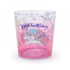 Japan Sanrio Clear Plastic Tumbler - Little Twin Stars