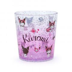 Japan Sanrio Clear Plastic Tumbler - Kuromi