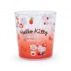 Japan Sanrio Clear Plastic Tumbler - Hello Kitty