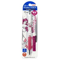 Japan Disney Kuru Toga Rubber Grip Mechanical Pencil - Ariel & Flounder