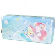 Japan Disney Twin Pen Case Pouch - Princess Ariel & Flounder
