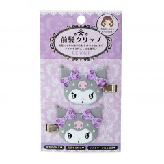 Japan Sanrio Hair Clip 2pcs - Kuromi