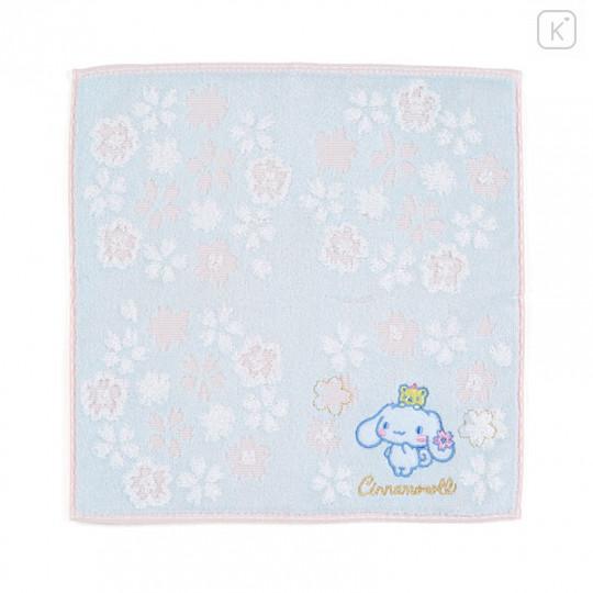 Japan Sanrio Sakura Handkerchief Petit Towel - Cinnamoroll - 1