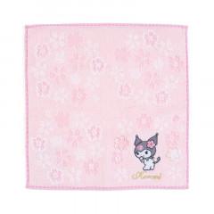 Japan Sanrio Sakura Handkerchief Petit Towel - Kuromi