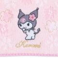 Japan Sanrio Sakura Handkerchief Petit Towel - Kuromi - 2