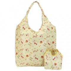Japan Disney Eco Shopping Bag with  Mini Bag - Winnie the Pooh / Yellow