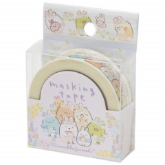 Japan San-X Washi Paper Masking Tape - Sumikko Gurashi / Mysterious Rabbit Oniwa