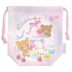 Japan Rilakkuma Drawstring Bag - Sweet Drink