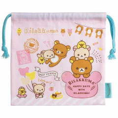 Japan Rilakkuma Drawstring Bag - Happy Day with Rilakkuma