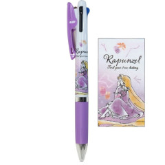 Japan Disney Jetstream 3 Color Multi Ball Pen - Rapunzel Purple