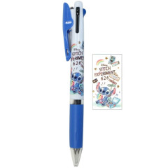 Japan Disney Jetstream 3 Color Multi Ball Pen - Stitch