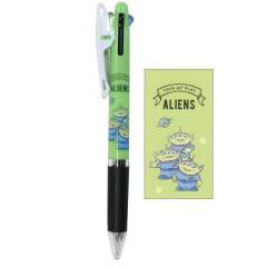 Japan Disney Jetstream 3 Color Multi Ball Pen - Little Green Men Alien