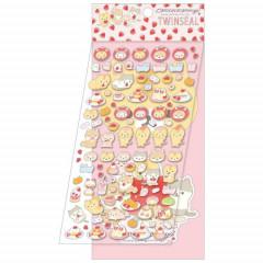 Japan San-X 2-sheets Sticker Set - Corocoro Coronya / Strawberry