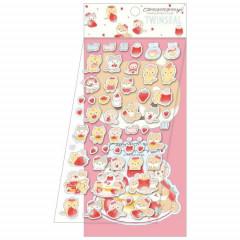 Japan San-X 2-sheets Sticker Set - Corocoro Coronya / Strawberry Bread