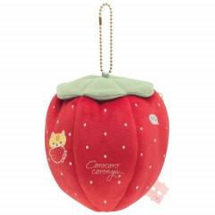 Japan San-X Keychain Pouch (S)- Corocoro Coronya / Strawberry