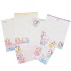 Japan Disney Letter Envelope Set - Princess Rapunzel Belle Ariel