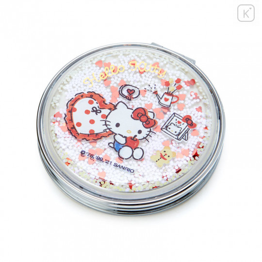 Japan Sanrio 2-sided Pocket Mirror - Hello Kitty / Happy Spring - 1