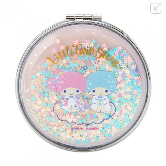 Japan Sanrio 2-sided Pocket Mirror - Little Twin Stars / Happy Spring - 2