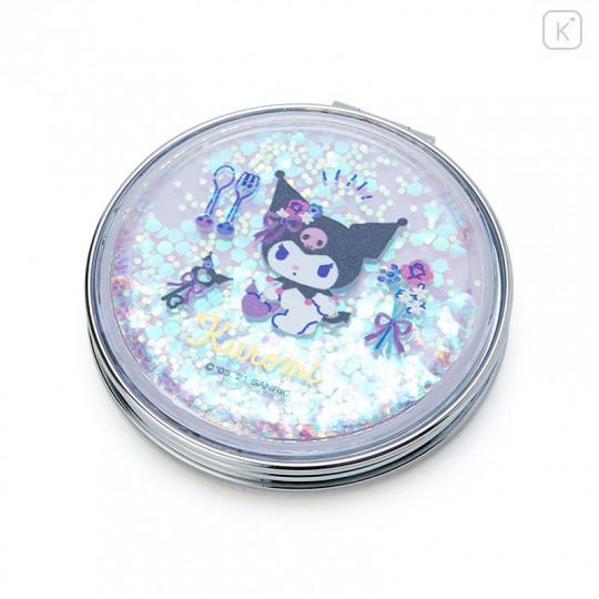 Japan Sanrio 2-sided Pocket Mirror - Kuromi / Happy Spring - 1
