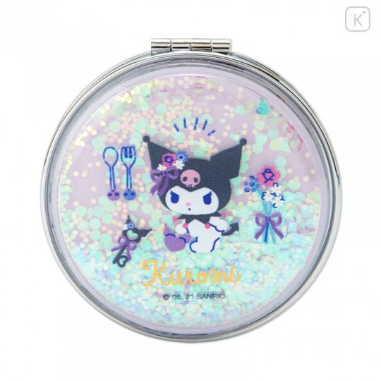 Japan Sanrio 2-sided Pocket Mirror - Kuromi / Happy Spring - 2