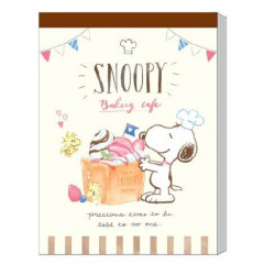 Japan Peanuts B8 Mini Notepad - Snoopy & Cake