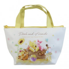 Japan Disney Tote Bag with Insulation Pouch - Winnie The Pooh & Piglet