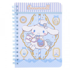 Sanrio A6 Twin Ring Notebook - Cinnamoroll / Carousel