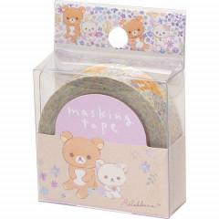 Japan San-X Washi Masking Tape - Rilakkuma Flora