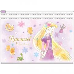 Japan Disney 2 Pocket Zip Pouch - Rapunzel