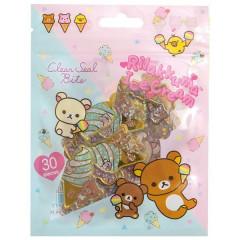 Japan San-X Clear Seal Bits Sticker Pack - Rilakkuma / Ice Cream