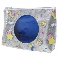 Japan Kirby Glitter Cosmetic Pouch - Milky Way