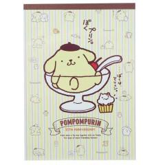 Japan Sanrio A6 Notepad Set - Pompompurin 25th Anniversary