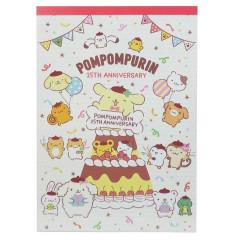 Japan Sanrio A6 Notepad Set - Pompompurin 25th Anniversary Cake