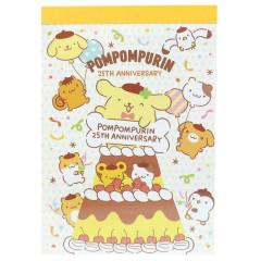 Japan Sanrio B8 Mini Notepad - Pompompurin 25th Anniversary Cake