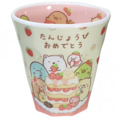 Japan San-X Sumikko Gurashi Melamine Cup - Strawberry
