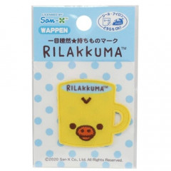 Japan San-X Rilakkuma Iron-on Applique Patch - Kiiroitori Mug