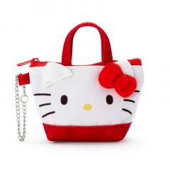 Japan Sanrio Mini Tote Bag Mascot Keychain - Hello Kitty
