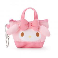 Japan Sanrio Mini Tote Bag Mascot Keychain - My Melody
