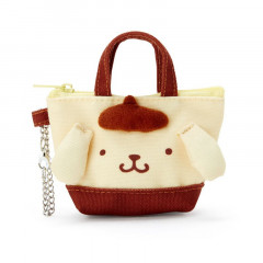 Japan Sanrio Mini Tote Bag Mascot Keychain - Pompompurin