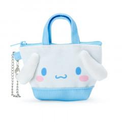 Japan Sanrio Mini Tote Bag Mascot Keychain - Cinnamoroll