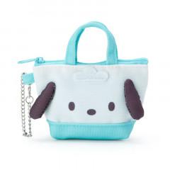 Japan Sanrio Mini Tote Bag Mascot Keychain - Pochacco