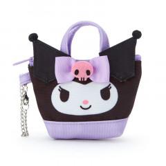 Japan Sanrio Mini Tote Bag Mascot Keychain - Kuromi