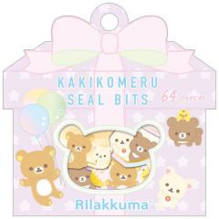 Japan San-X Writable Seal Bits Sticker - Rilakkuma / Balloon