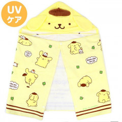 Japan Sanrio Hooded Towel - Pompompurin / Clover