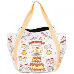 Japan Sanrio Tote Bag (L) - Pompompurin / 25th Anniversary White