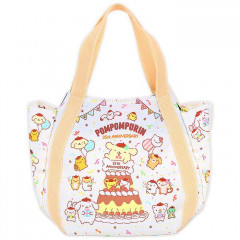 Japan Sanrio Tote Bag (M) - Pompompurin / 25th Anniversary White